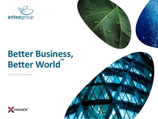 Antea Group Overview Better Business, Better World ℠