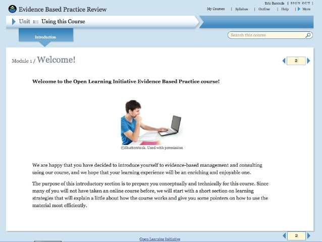 Teaching Evidence-Based Practice - Online Learning Modules