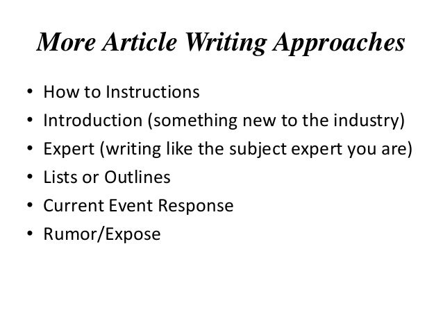How to Write More Articles