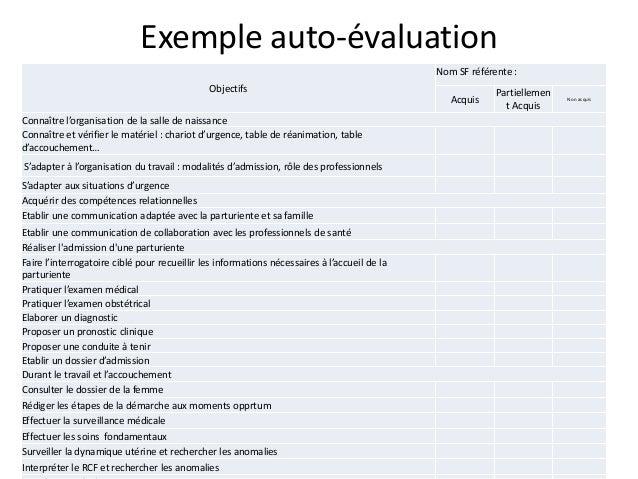 Presentation attalah esf original - Grille d auto evaluation ...