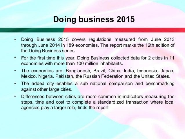 Doing business report 2015 bangladesh political crisis