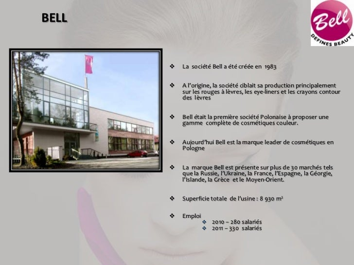 BELL          La société Bell a été créée en 1983          A l'origine, la société ciblait sa production principalement ...