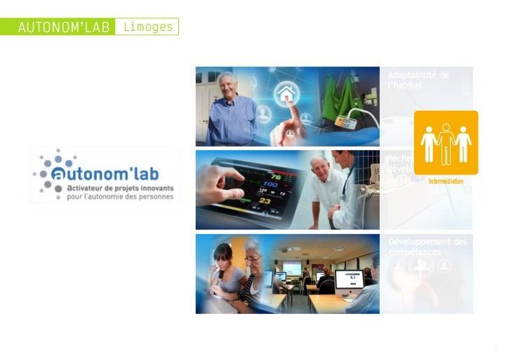 AUTONOM'LAB Limoges                      Intermédiation                                       3