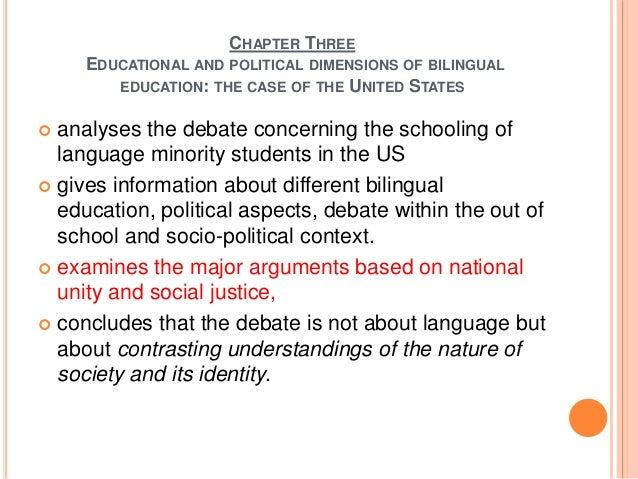 An argument in favor of bilingual education in the united states