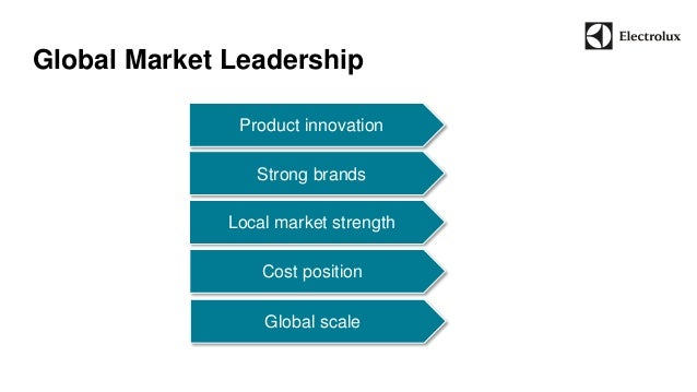 Global Market Leadership  Local market strength  Strong brands  Product innovation  Cost position  Global scale