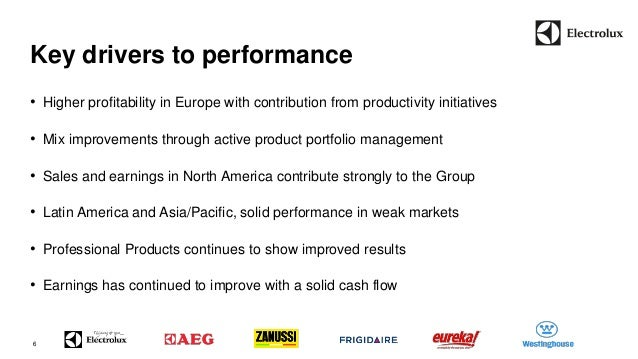 Key drivers to performance  6  • Higher profitability in Europe with contribution from productivity initiatives  • Mix imp...