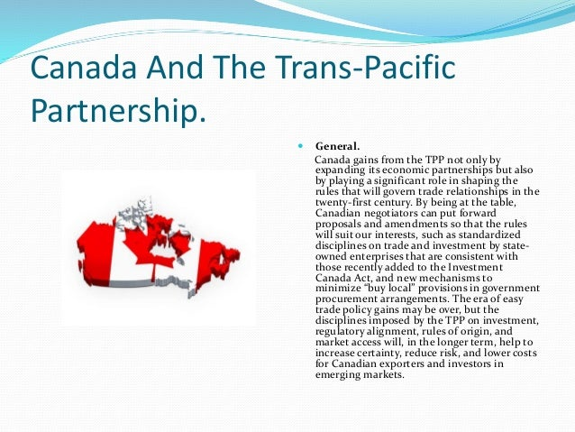 canada and the trans pacific partnership Prime minister justin trudeau says canada and 10 other countries have agreed to a revised trans-pacific partnership pact - without the united states.