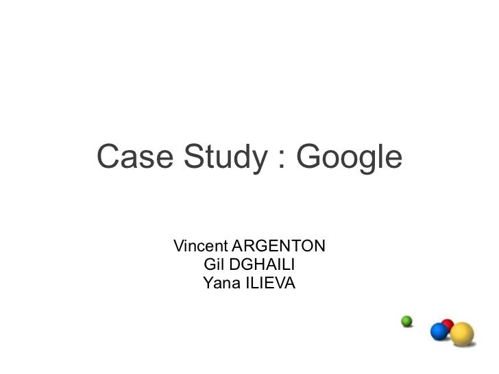 google case study solution