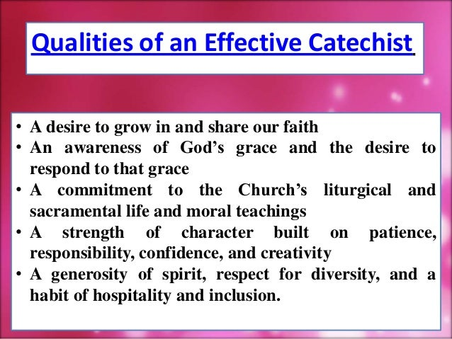Orientation to Catechism Teachers