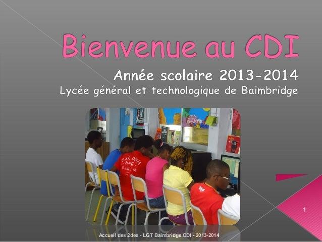 1 Accueil des 2des - LGT Baimbridge CDI - 2013-2014