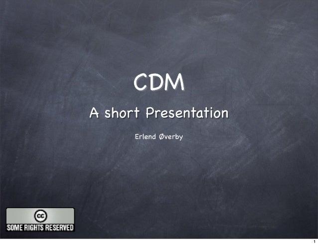 Presentation CDM eFramework meeting 26012007