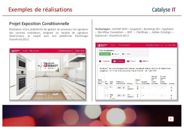 Catalyse IT Projet Exposition Conditionnelle Réalisation d'une plateforme de gestion du processus de signature des contrat...