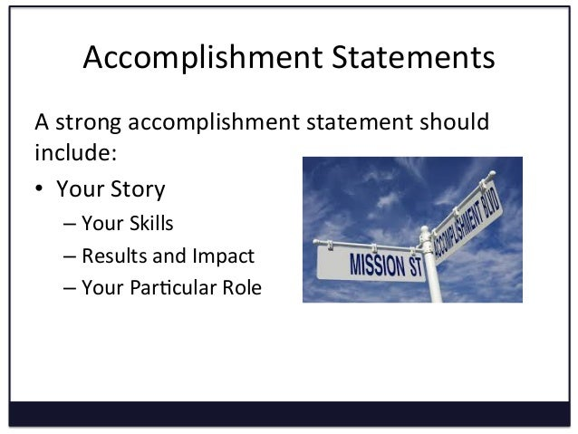 results oriented resume statements