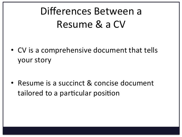 converting resume to cv