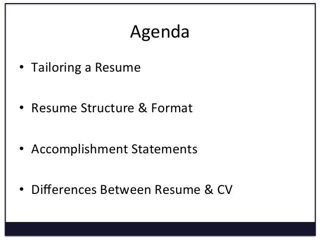 ... 5. Agenda U2022 Tailoring A Resume ...  Convert Resume To Cv