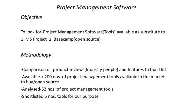 Comparison And Analysis Of Project Management Software