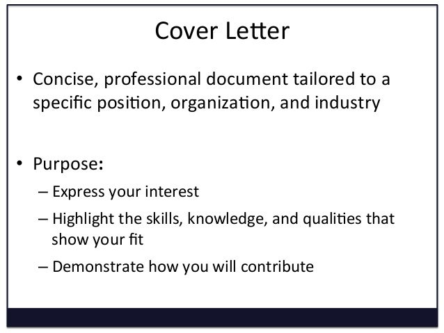 Cover Letter Writing Graduate Students