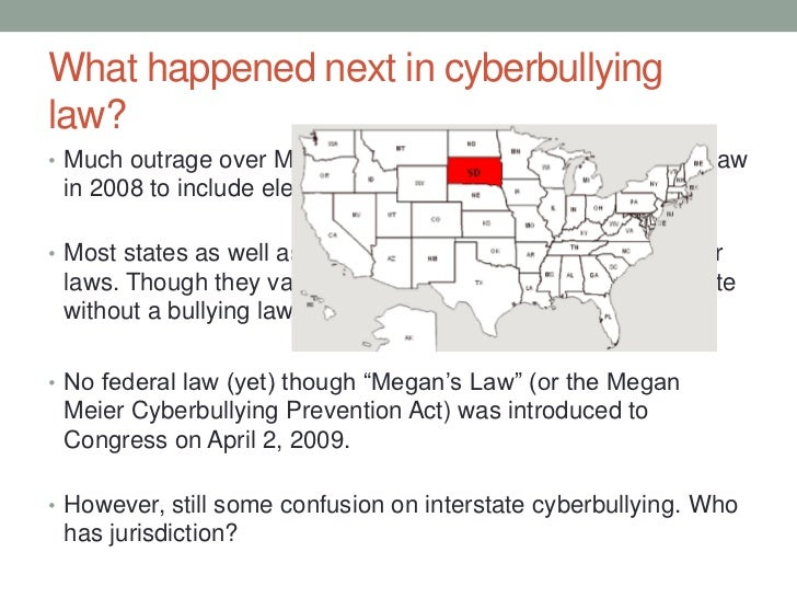 cyberbullying laws News about cyberbullying, including commentary and archival articles published in the new york times.