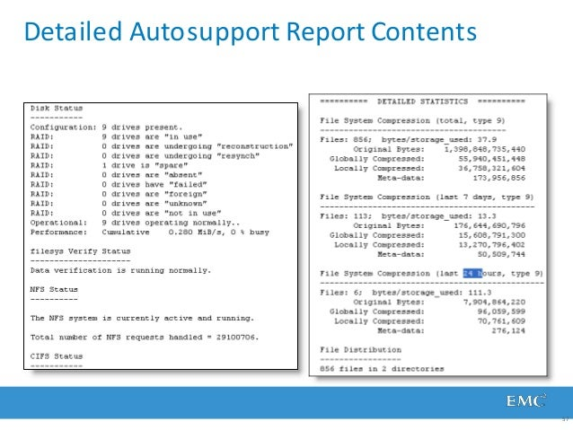 Detailed Autosupport Report Contents 57