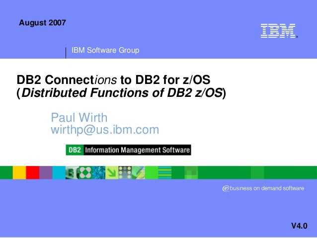presentation db2 connections to db2 for z os rh slideshare net z OS Scope Review Zos Kia Cultus
