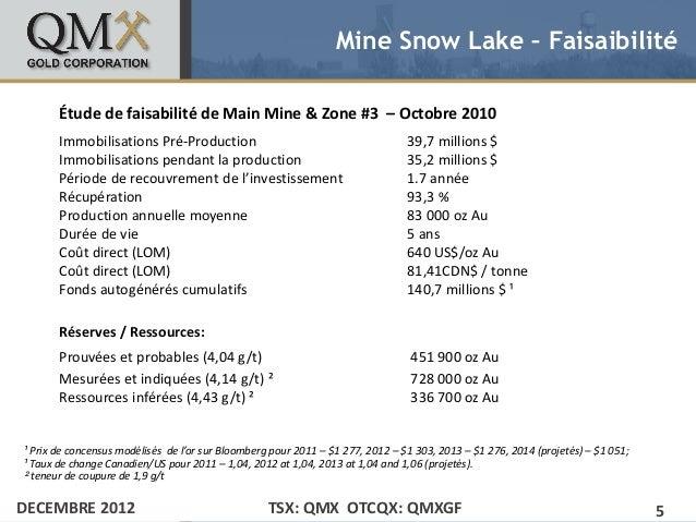 Mine Snow Lake – Faisaibilité       Étude de faisabilité de Main Mine & Zone #3 – Octobre 2010• Click to edit Master text ...