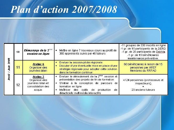 Plan d'action 2007/2008