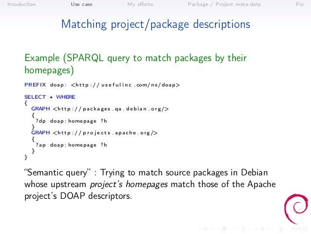 Intoduction                Use case                   My efforts              Package / Project meta-data   Fin            ...