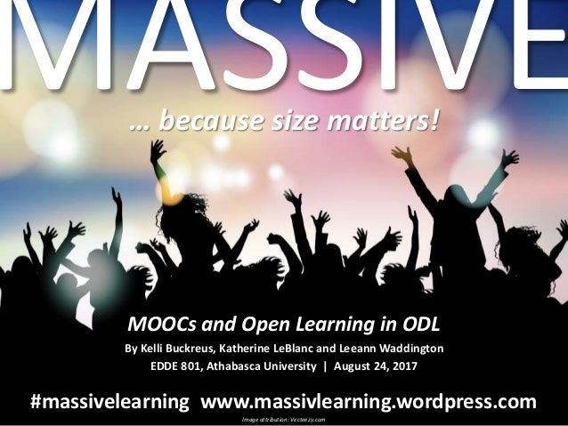 massive beacause size matters moocs and open learning in odl