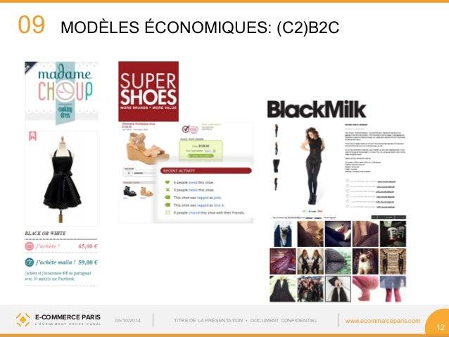 09  E-COMMERCE PARIS www.ecommerceparis.com  L ' É V É N E M E N T C R O S S - C A N A L  12  MODÈLES ÉCONOMIQUES: (C2)B2C...