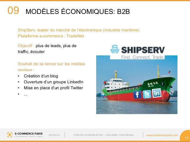 09  ShipServ, leader du marché de l'électronique (industrie maritime)  Plateforme e-commerce : TradeNet  Objectif : plus d...