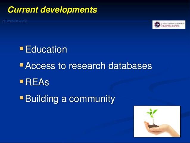 Evidence based management: Future developments 34