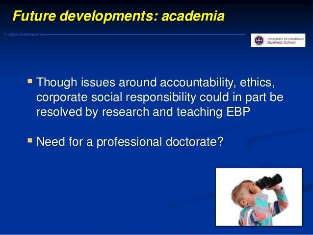 Evidence based management: Challenges 38