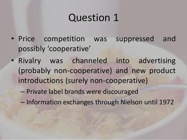 why has rte cereal been such a profitable business The rte cereal industry in 1994 case analysis competitive strategy presented by: raghav keshav why has rte cereal been such a profitable business.