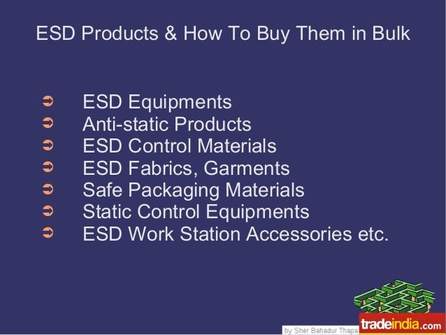 ESD Products & How To Buy Them in Bulk ➲ ESD Equipments ➲ Anti-static Products ➲ ESD Control Materials ➲ ESD Fabrics, Garm...