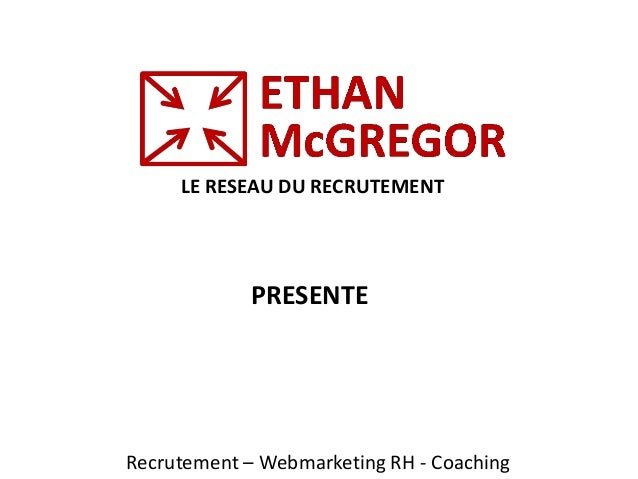 LE RESEAU DU RECRUTEMENT Recrutement – Webmarketing RH - Coaching PRESENTE