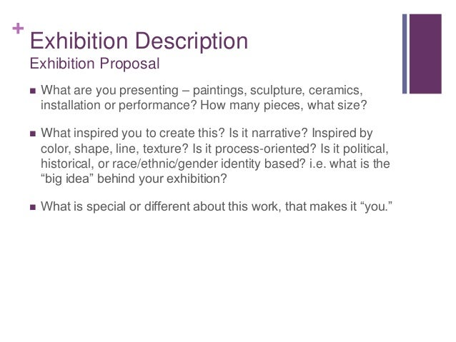 Don't Be Afraid of the Big Bad Proposal: Art Exhibition and Grant Pro…