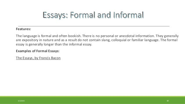 The Difference Between Formal and Informal Language