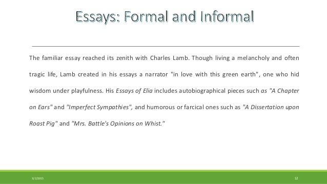 define familiar essay