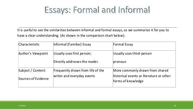 Formal essay definition