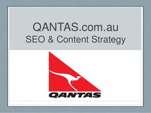 QANTAS.com.au SEO & Content Strategy