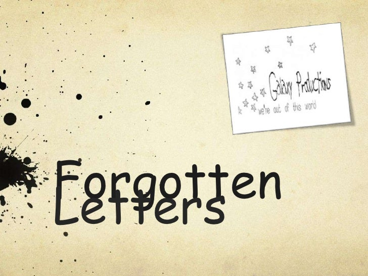 ForgottenLetters