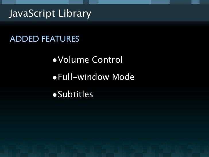 Video js - How to build and HTML5 Video Player