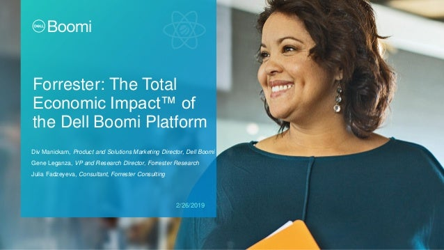 Forrester: The Total Economic Impact™ of the Dell Boomi Platform Div Manickam, Product and Solutions Marketing Director, D...