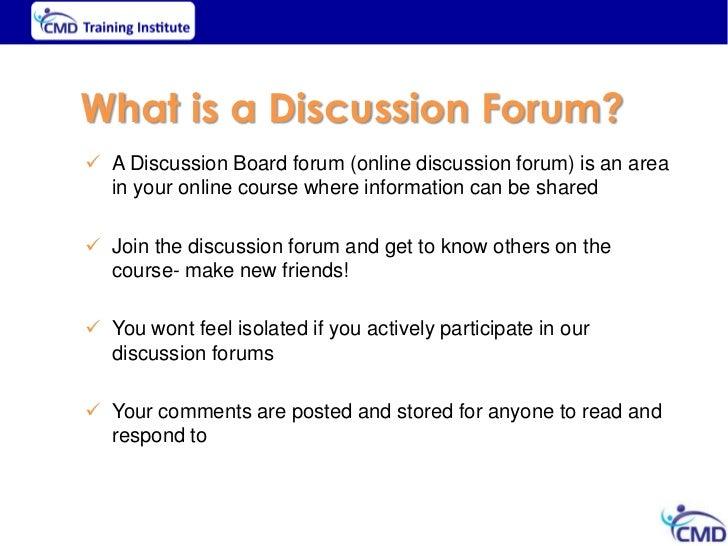 Presentation on online forums