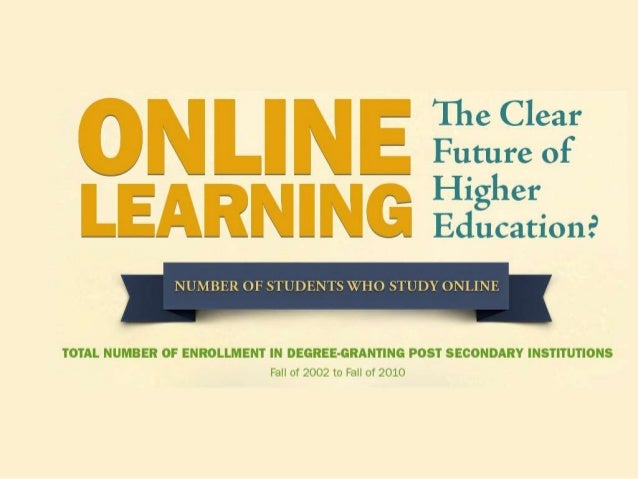 online education is the future The days of the one-room classroom are long gone, but the changes in education over the next 25 years may not even include walls.