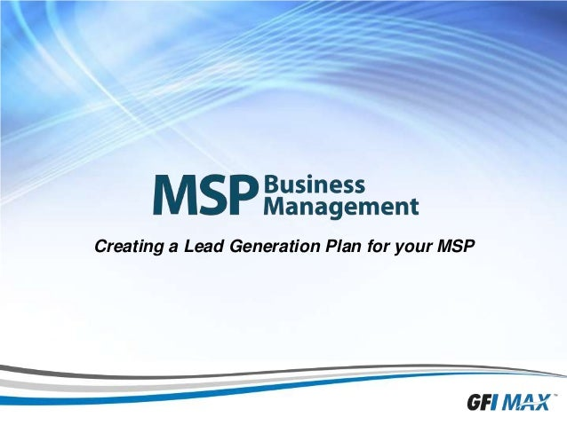 1 Creating a Lead Generation Plan for your MSP