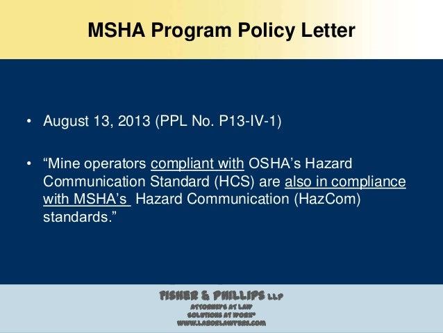 Ghs Amp Hazcom Standards Under Msha And Osha Georgia Mining