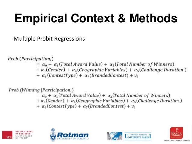 Empirical Context & Methods Multiple Probit Regressions