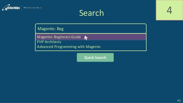 Search 4 Magento: Beg Magento: Beginners Guide PHP Architects Advanced Programming with Magento Quick Search 43