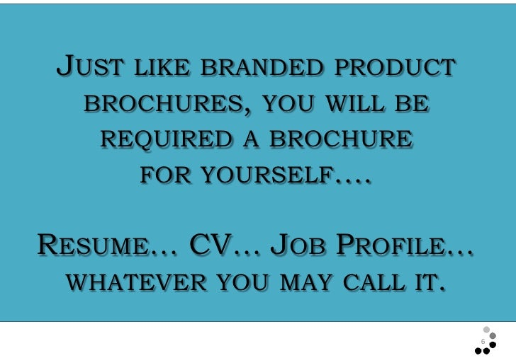 selling yourself in a resumes